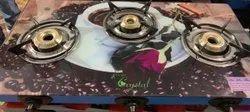 Surya Crystal 3 Burner Automatic Digital Glass Gas Stove Top