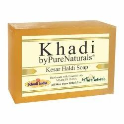 byPureNaturals Khadi Kesar Haldi Soap- 100 Gm