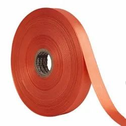 Double Satin NR - Carrot Orange Ribbons 25mm/1''Inch 20mtr Length