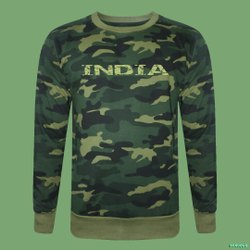 Cotton Camouflage Sweatshirt