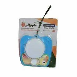 Apple Plastic Rechargeable LED Emergency Light, Capacity: 2000 mAH, Dc