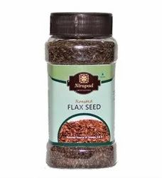 Natural Brown Roasted Flax Seed, For Ready to eat, Packaging Size: Jar