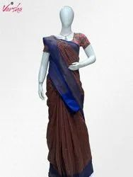 Varsha Party Wear Ladies Indian Saree, 6.3 m (with blouse piece)