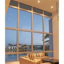 Aluminium Fixed Glass Window, For Home