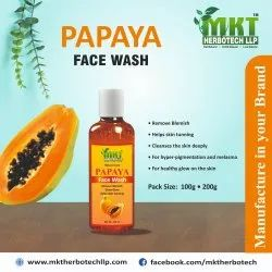 MKT Herbal Papaya Face Wash, Age Group: Adults, Packaging Size: 100g & 200g