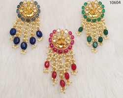 Pearls Kundan Jadau Meena Earrings
