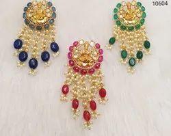 Pearls Kundan Jadau Meena Earrings