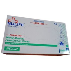 Nulife Nitrile Medical Examination Gloves
