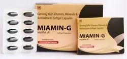 Ginseng With Vitamins, Minerals & Antioxdants Softgel ( Miamin G Softgel Capsule)