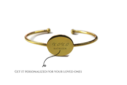 Monogram Personalized Sterling Silver Cuff Bracelet For Women - Custom Gift