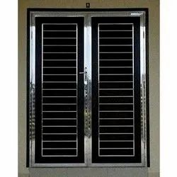 Modern Silver Stainless Steel Safety Window, For Home