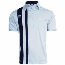 Plain Polo Neck Men Half Sleeve Cotton T Shirt, Size: S - XXL