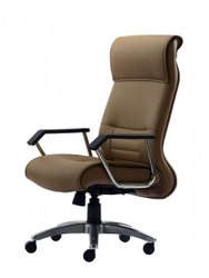 Leather Comfortable Office Revolving Chair, Brown