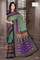 Casual Wear Ladies Printed Cotton Saree, With Blouse Piece, 6.3 meter