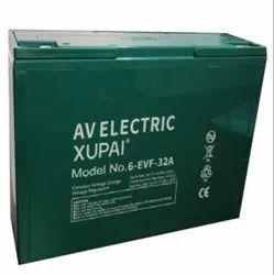 12V 32Ah Electric Bike Battery, Dimension: 27 Cm X 8 Cm X 17 Cm, Model Name/Number: 6-EVF-32A