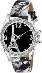 Empero Men Designer Party Wear Leather Strap Watch