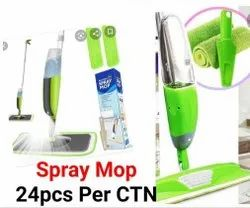 Green Plastic Spray Mop, For Floor Cleaning