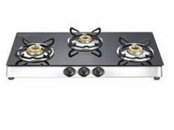 Lpg 3 Burner Gas Stove, For Kitchen