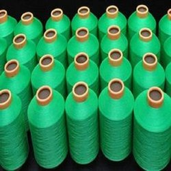 Bright Plain 50/600 BRT Polyester Twist Dyed Yarn, For Weaving