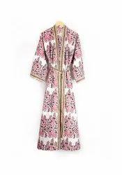 Designer Block Printed Kimono Robe