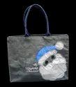 Grey Christmas Gift Bag