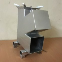 Silver Mild Steel Wood Burning Stove, For Outdoor Cooking, Model Name/Number: VWS1