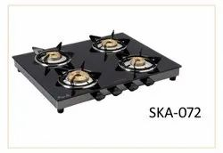 Glass FOUR BURNER GAS STOVE, For Kitchen, Model Name/Number: TW4B