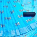 Chanderi Butta Silver Zari Fabrics