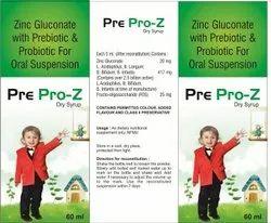 Pre Probiotic, Zinc Dry Syp