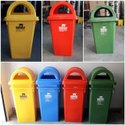 Wheeled Foot Operated Multi Color Bin
