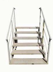 Standard Mild Steel Portable Gray Staircase