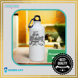 Geniekart Aluminium Sublimation Water Sipper Bottle, For Gym, Capacity: 750 Ml