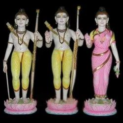 Lord Vanvasi Ram Jodi Gold Touch Multicolor Marble Statue