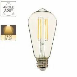 Lightron 4 W ST-64 LED Filament Bulb