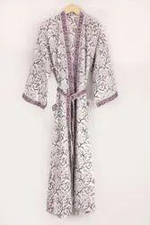 Ladies Cotton Kimono Robe