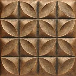 White Brown Pop 3D Tiles, Thickness: 12 - 14 mm, Size: Medium