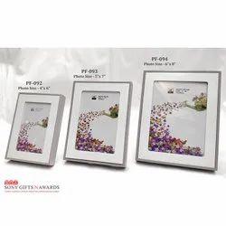 Wooden Box White Engravable Customized Photo Frame
