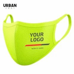 Anti Pollution Cotton Face Mask Neon Green with Custom Logo Cycling Fashion Sports SSMMS Filter