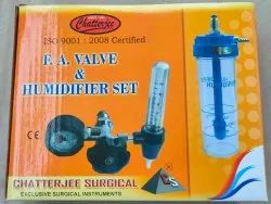 F.A Valve With Humidifier Box Pack / Oxygen Flow Meter