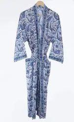 Designer Hand Printed Kimono Dress