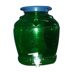 Plastic Green Water Jar Dispenser, Capacity: 10 Litre