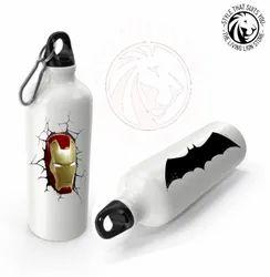 Living Lion Aluminium 750ml White Aluminum Sipper Bottle, Cylindrical