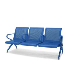 Metro Blue Three Seater Chair
