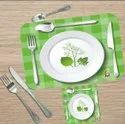 Printed Table Placemats With Coaster Set