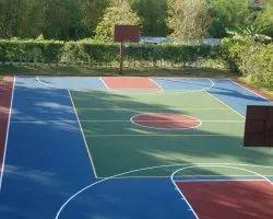 Acrylic Synthetic Basketball Court Flooring