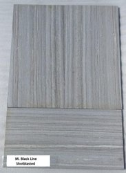 M. Black Line - Shot blast Tiles
