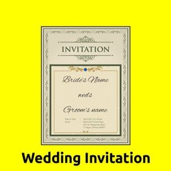 White & Black Paper Wedding Card Printing Services, For Marriage Etc, in Pan India