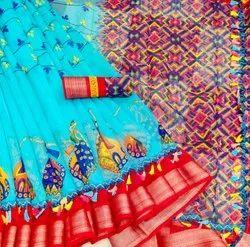 Ethnic Chanderi Silk Cotton Saree, 6.3 Meter