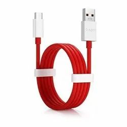 Red ABS Plastic Mobile Fast Charging C Type Cable