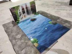 3D Floor Tiles Scenery